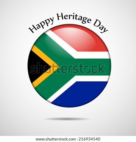 Illustration of South Africa Flag Badge or button for Heritage Day