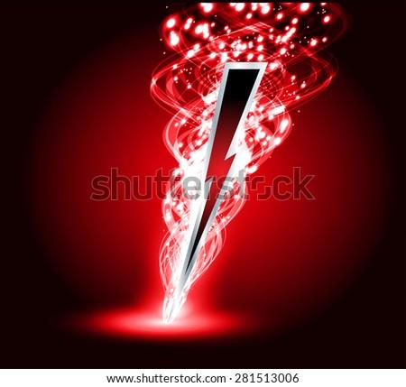 Illustration Sparkling Lightning Bolt Electric Effect Stock Vector