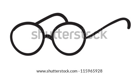 illustration of spectacles on a white background - stock vector