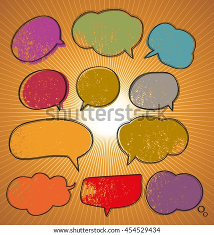 Illustration of speech bubble set