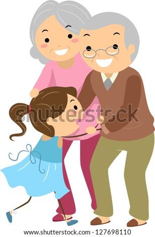 Happy Granny Clipart