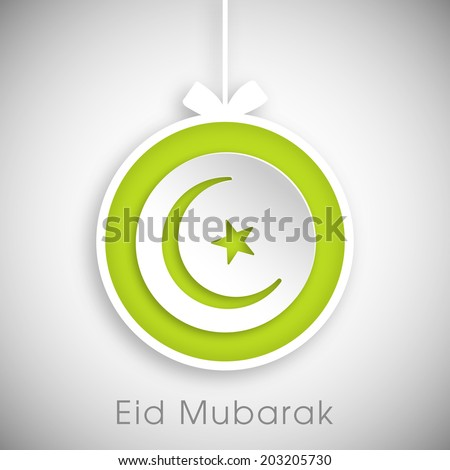 illustration of stylish tag,sticker,label or greeting card of Eid Mubarak.