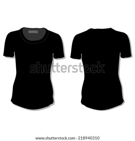 Illustration Tshirt Clothes Woman Shirt Polo Stock Vector (Royalty ...