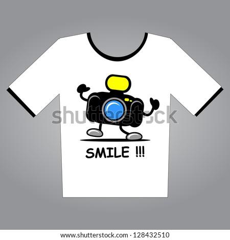 illustration of T-Shirt Design - stock vector