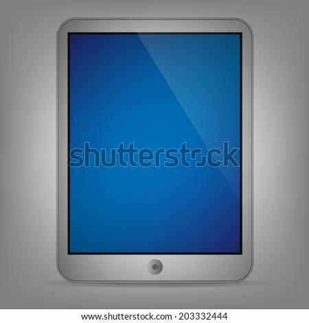 Illustration of tablet - stock vector