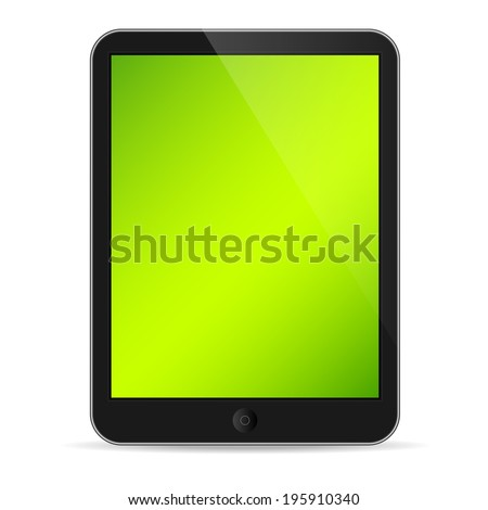 Illustration of tablet on white  - stock vector