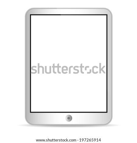 Illustration of tablet on white  - stock vector