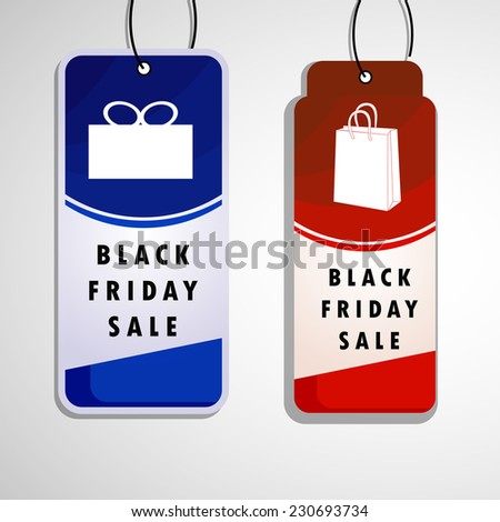 Illustration of tags for Black Friday