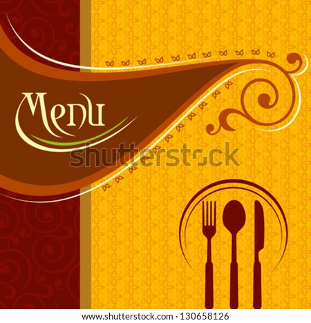 Illustration template menu card cutlery stock vector 130658126 illustration of template for menu card with cutlery pronofoot35fo Gallery