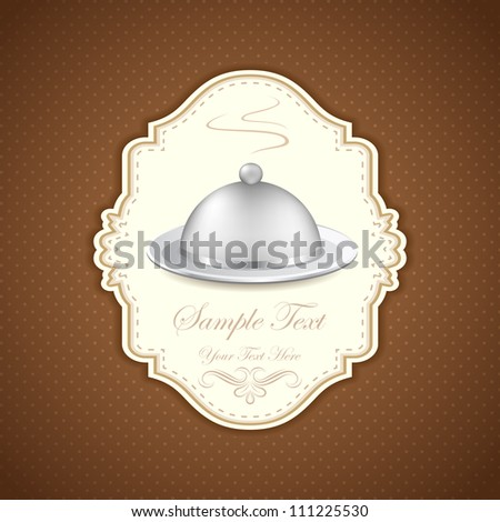 illustration of template for menu design of hotel - stock vector