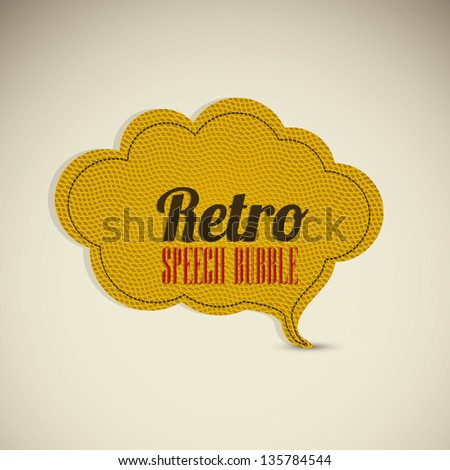 Illustration of text balloons,  retro style and color, vector illustration - stock vector