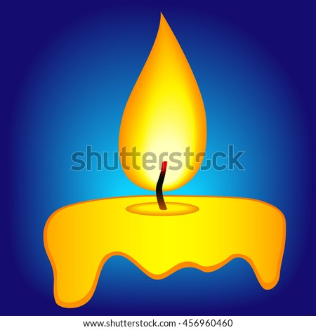 Illustration of the abstract candle icon