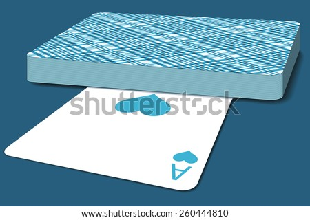 Illustration of the deck of cards - stock vector