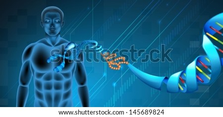 Illustration of the Deoxyribonucleic acid structure - stock vector
