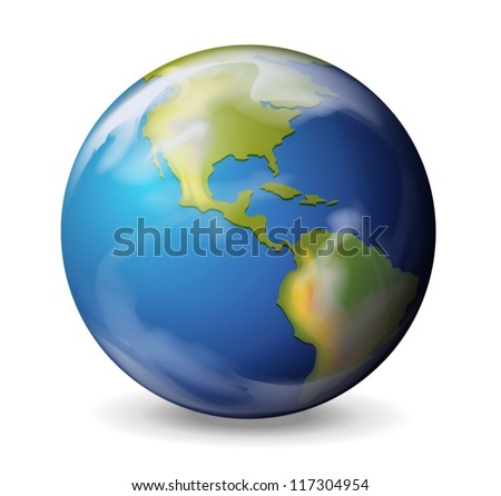 Illustration of the Earth on a white background