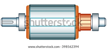 Illustration of the electric motor rotor - stock vector