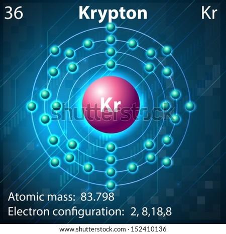 Illustration Element Krypton Stock Vector 152410136