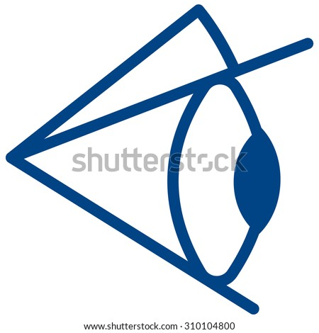 Illustration of the eye icon - stock vector