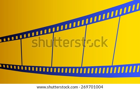 Illustration of the film strip icon - stock vector