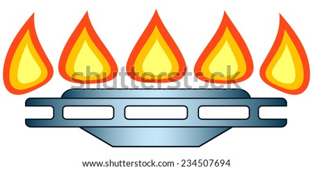 Illustration of the gas-stove burner icon - stock vector