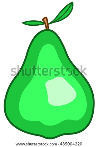Illustration of the green pear icon