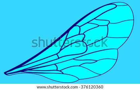 Illustration of the insects wing - stock vector