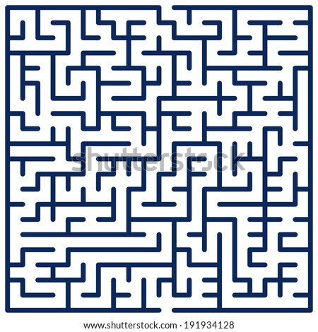 Illustration of the maze for leisure - stock vector