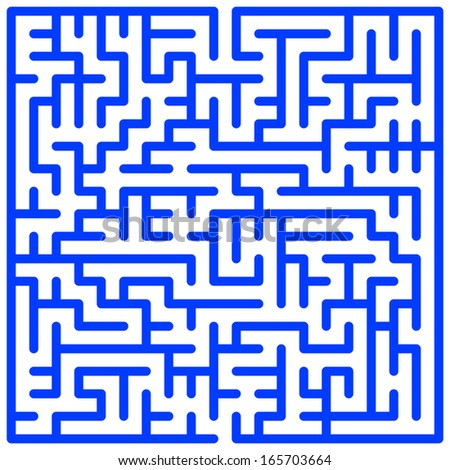 Illustration of the maze pattern