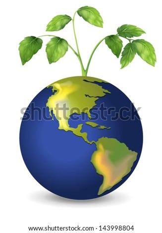 Illustration of the mother earth