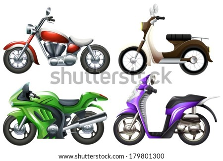 Illustration of the motor vehicles on a white background - stock vector