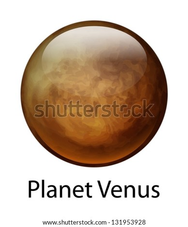Illustration of the planet Venus - stock vector