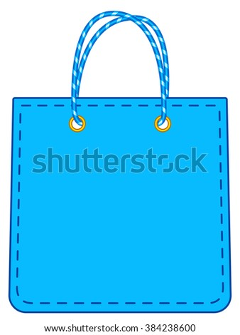 Illustration of the shopping bag icon - stock vector