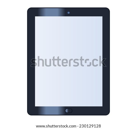 Illustration of the tablet computer on white background - stock vector