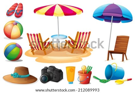 Cartoon Beach Stock Images Royalty Free Images Amp Vectors