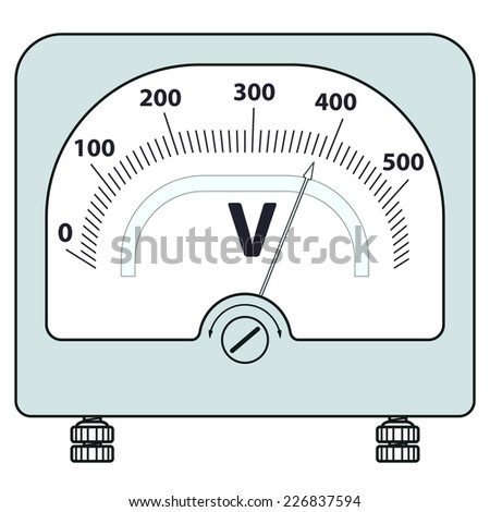 Illustration of the voltmeter icon - stock vector