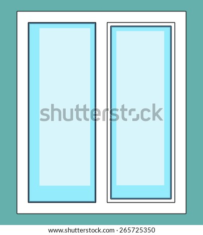 Illustration of the window icon - stock vector