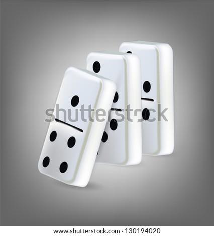 Illustration of three domino blocks - stock vector