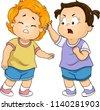 illustration of toddler kids...