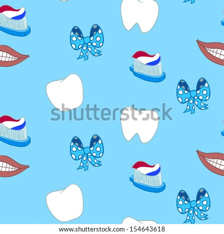 illustration of tooths on a white background  - stock vector