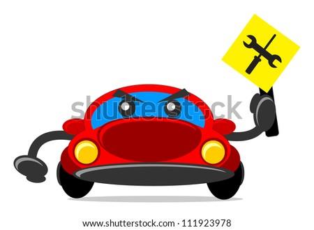 illustration of traffic sign - stock vector