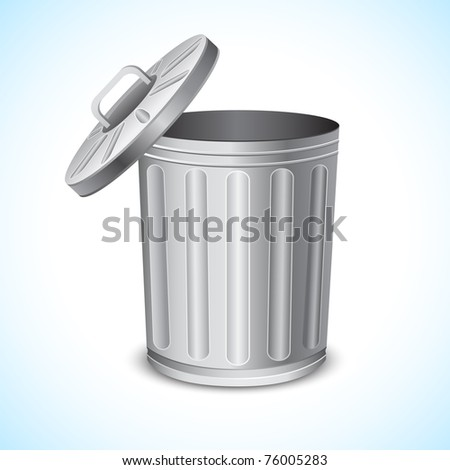 illustration of trash can on abstract background