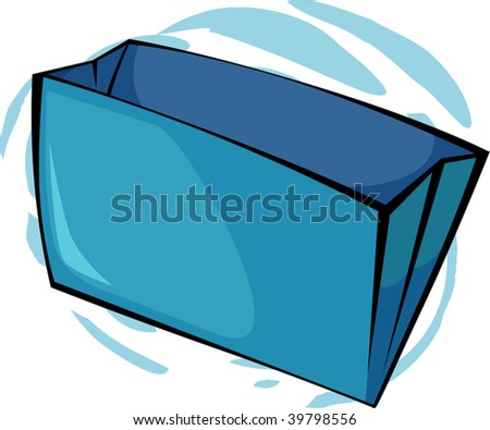 Illustration of two blue colour folders - stock vector