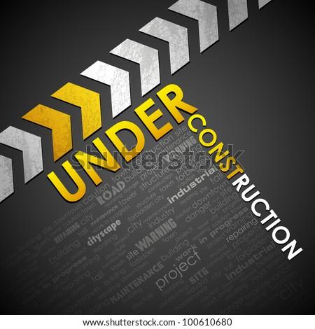 illustration of under construction background - stock vector