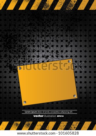 illustration of under construction background - stock vector