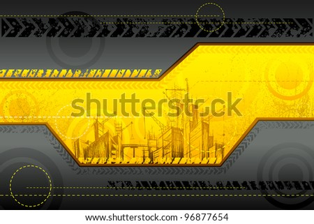 illustration of under construction background with building - stock vector