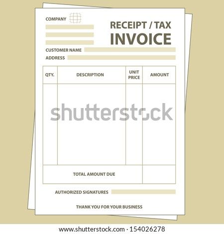 Copy Of A Receipt Invoice Stock Images Royaltyfree Images  Vectors  Shutterstock Vehicle Receipt Of Sale with Returns Without Receipt Pdf Illustration Of Unfill Paper Tax Invoice Form Best Receipt Scanner Software