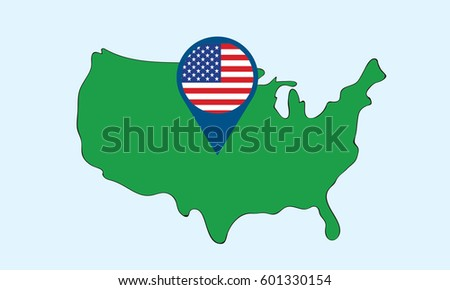 North America Flag Map Map All Stock Vector Shutterstock - Us map with glag