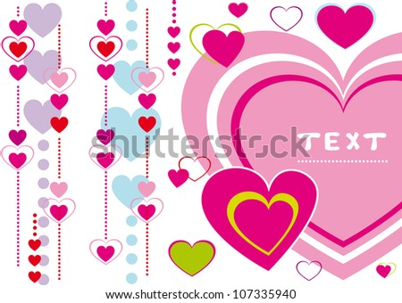 illustration of Valentine's Day greeting for your design - stock vector