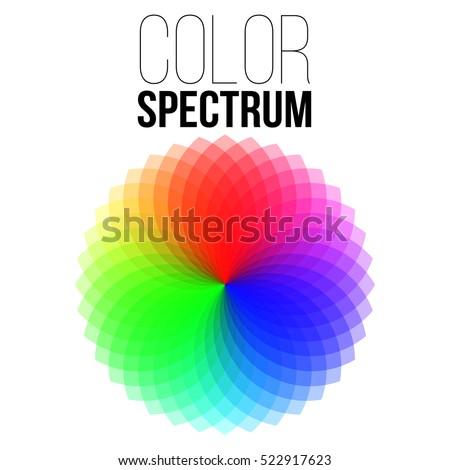 Illustration Of Vector Color Wheel Spectrum