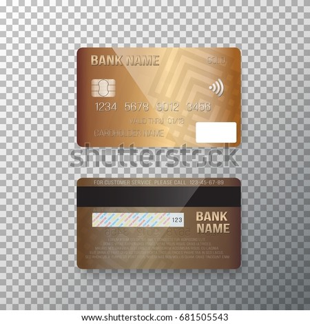 illustration vector credit card photorealistic bank stock vector